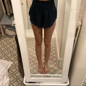 Free people blue flowy shorts